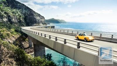 Yellow Porsche 911 Carrera 3.0 Targa 4