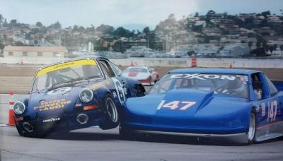 Porsche 911 RSR Penske 1973 crash