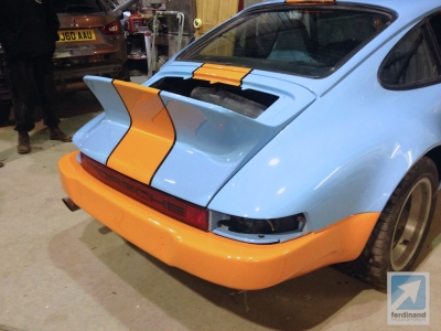 Modified Classic Retro Porsche 911 SC Gulf SC RS bumpers 4