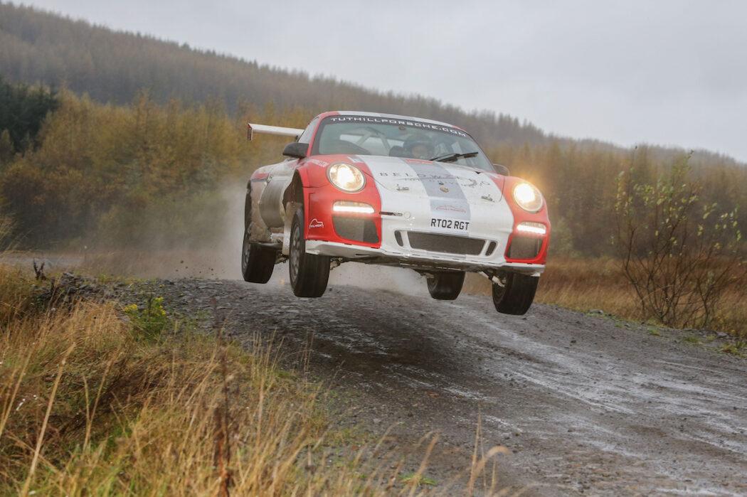 Tuthill Porsche RGT WRC jump
