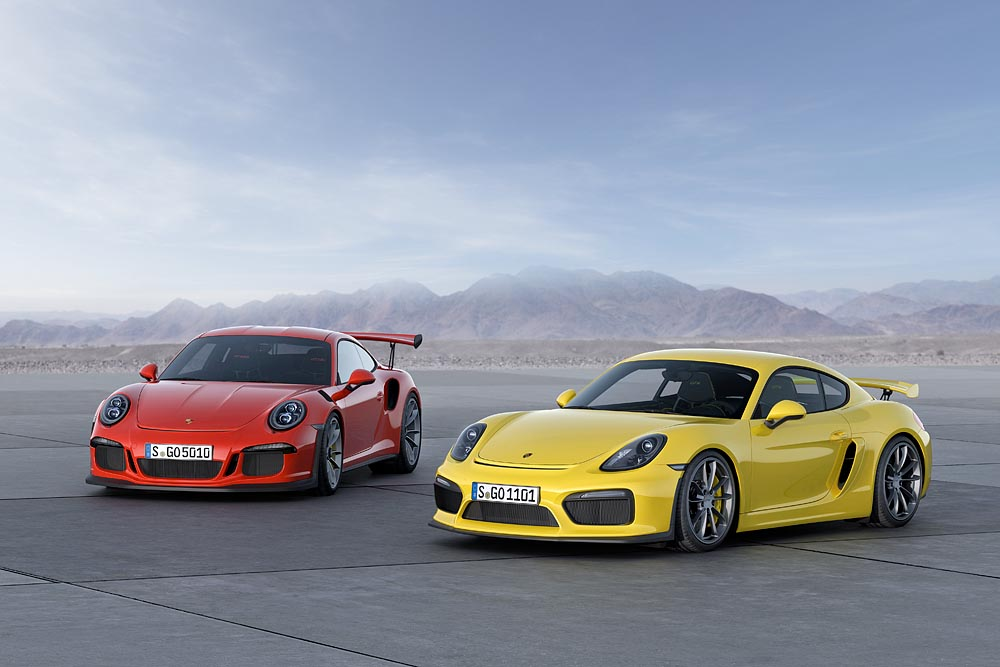 porsche 991 gt3 rs launch with cayman gt4 at geneva. Black Bedroom Furniture Sets. Home Design Ideas