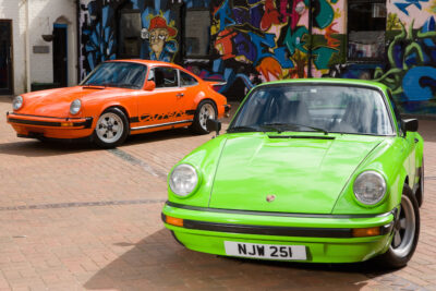 Classic Porsche 911 Carrera Orange Lime Green Ferdinand Magazine (1)