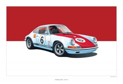 Classic Porsche Art Arthur Schening Ferdinand Magazine 2