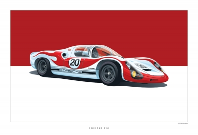 Classic Porsche Art Arthur Schening Ferdinand Magazine 3