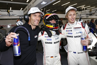 Webber Bernhard Hartley Porsche 919 qualifying Spa 2015