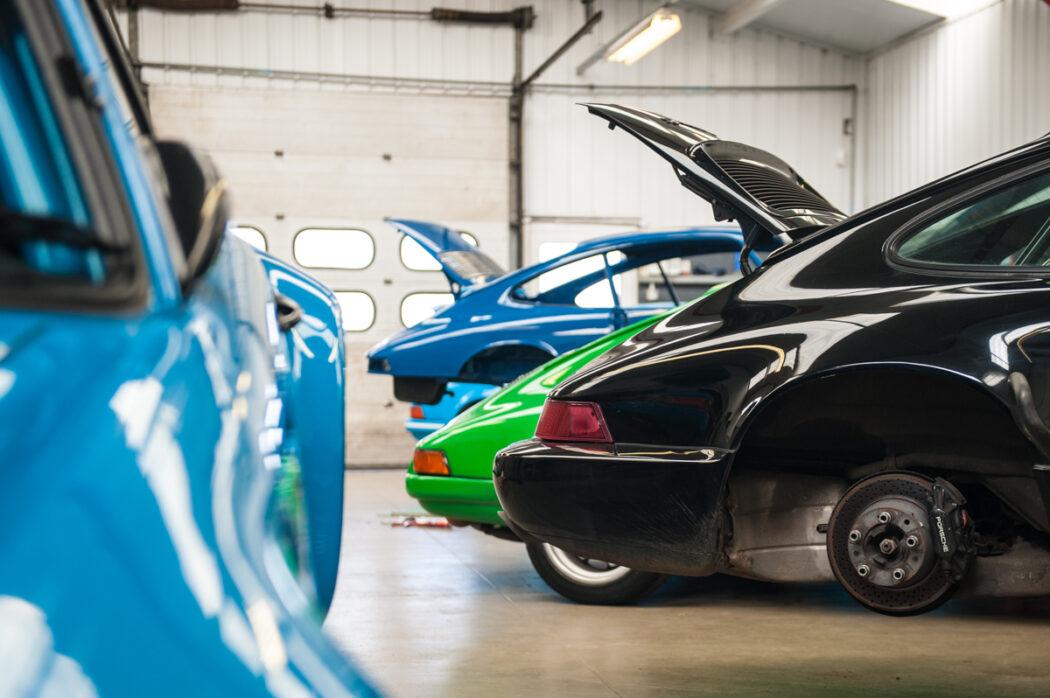 Tuthill Porsche motorsport 911 workshop