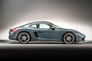 Porsche 718 Cayman side view