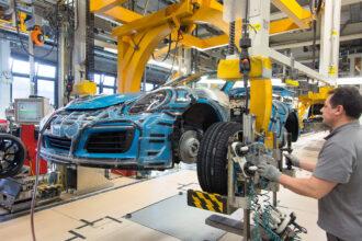 German Porsche car factory 3