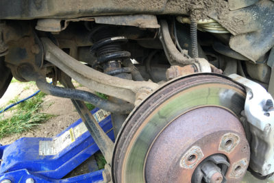 Porsche Cayenne rear spring replacement 2