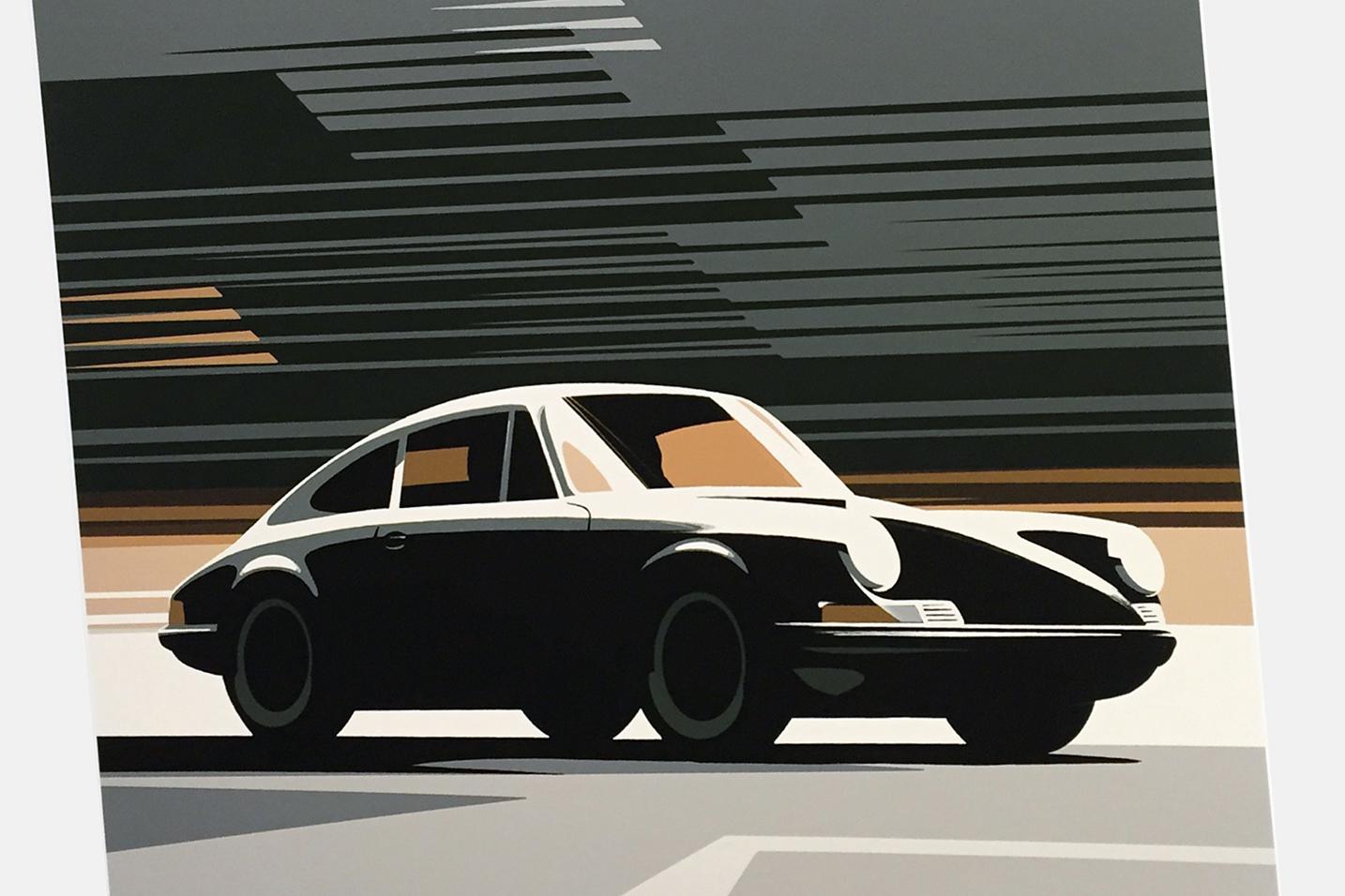 New Guy Allen Porsche Print 911 Swb Ferdinand